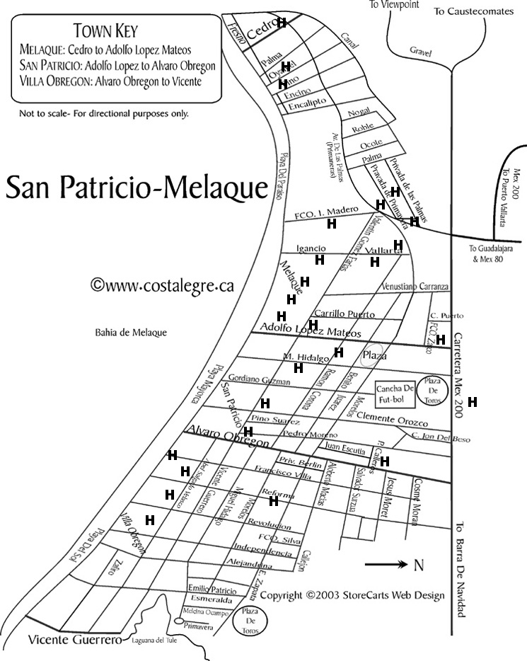 MELAQUE STREET MAP